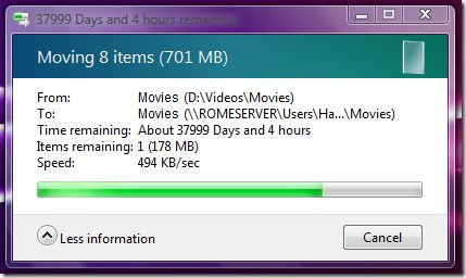 Windows 7 vs Vista File Transfer