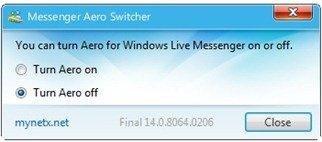 Messenger Aero Switcher