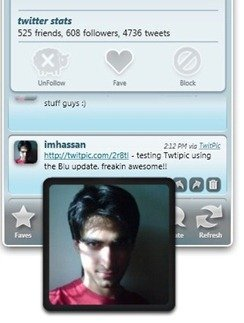 TwitPic hover preview  in Blu