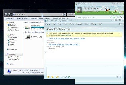 Windows Live Messenger with AERO off