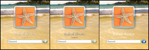 Windows 7 Logon UI Background changer Button Set Comparison
