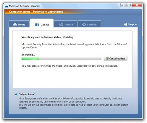 Microsoft Security Essentials (7)