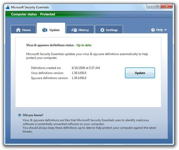 Microsoft Security Essentials (9)