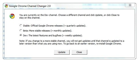 Google Chrome Channel Changer 2.0