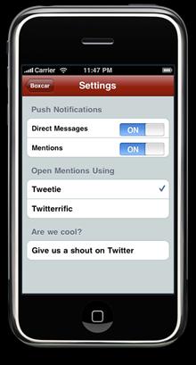 Boxcar Twitter Push notifications
