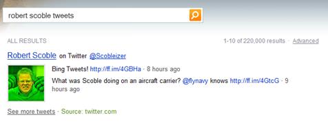 Bing Twitter Integration Robert Scoble