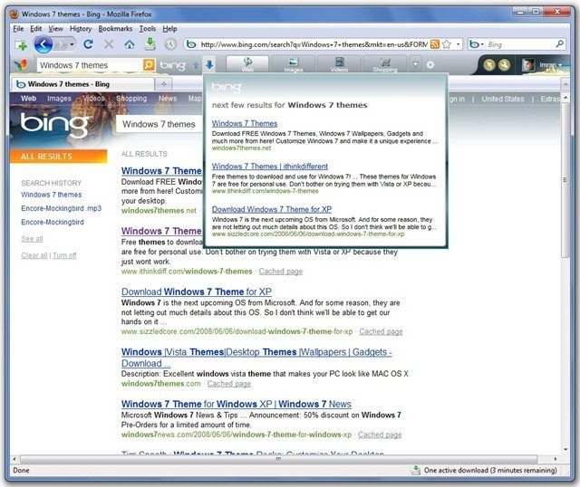 Firefox Bing MSN Toolbar