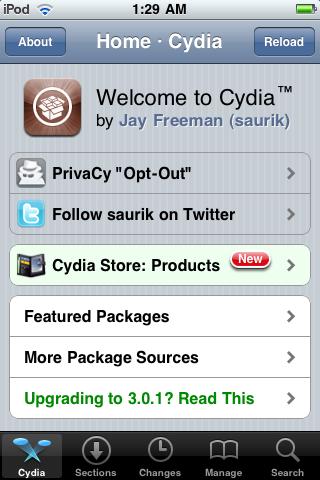 iPhone Cydia PrivaCy
