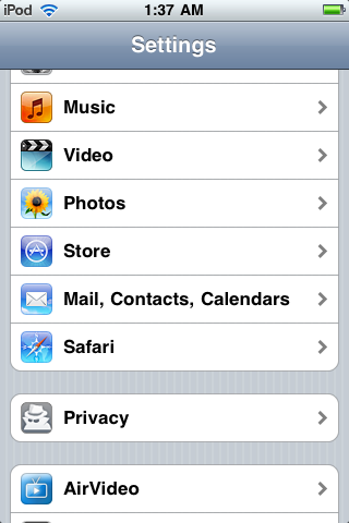 iPhone Cydia PrivaCy
