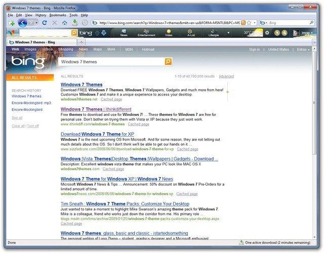 Windows 7 themes - Bing - Mozilla Firefox