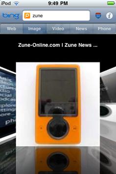 Search using Bing on your iPhone/iPod Touch through bingGo