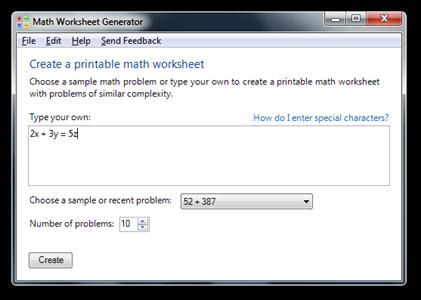 Math Worksheet Generator (2)