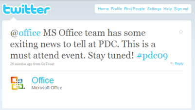 Office 2010 Public Beta to be released as early as next week at PDC?