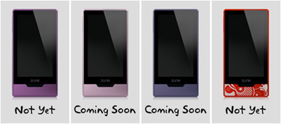 Zune HD to be available in more colors soon