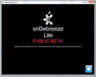 How to jailbreak iPod Touch firmware 3.1.2 with Sn0wbreeze 2