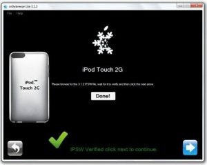 How to jailbreak iPod Touch firmware 3.1.2 with Sn0wbreeze