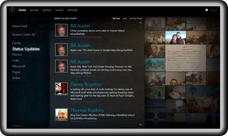 Silverlight 4 client for Facebook