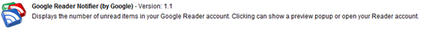 Google Reader Notifier