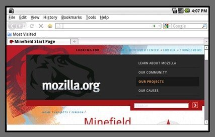 Screenie of FireFox running on Android