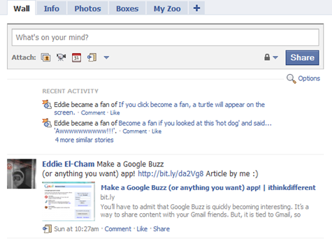 Facebook in Gmail