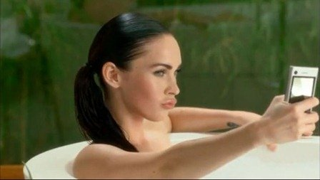 Megan Fox with Motoblur