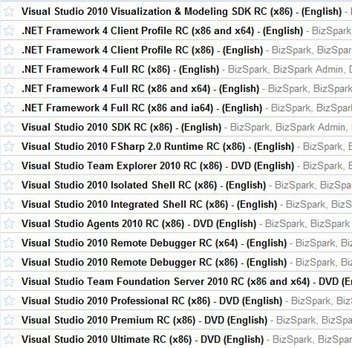 Visual Studio 2010 Release Candidate 2