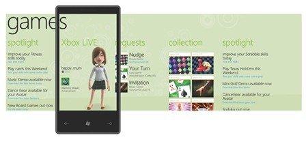 Windows Phone 7 Series Xbox Live Hub