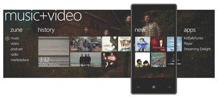 Windows 7 Phone Series Music + Video