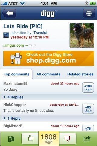 Digg iPhone App 2