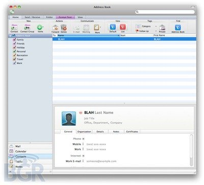Mac-office-addressbook