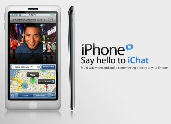 iChat on iPhone HD