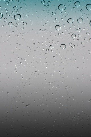 wallpaper iphone 4g. Default Rain Drops iPhone OS 4