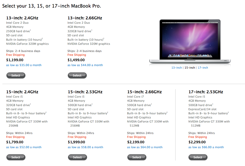 New Mac Book Pros