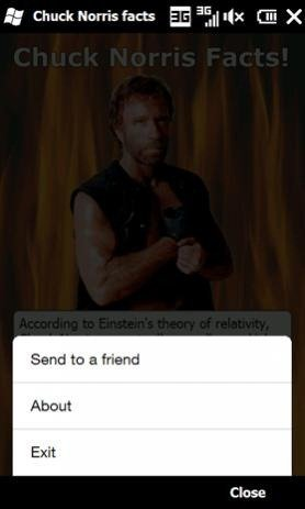 Chuck Norris Facts app released for Windows Mobile at last!