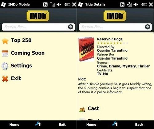 IMDb app for Windows Mobile released