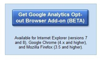 Google Analytics opt-out Browser add-on