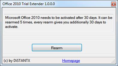 Office 2010 Trial Extender Tool