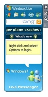 Windows Live Online Services Sidebar Gadget