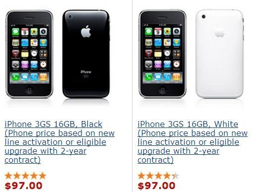 price reduction of iPhone 3Gs