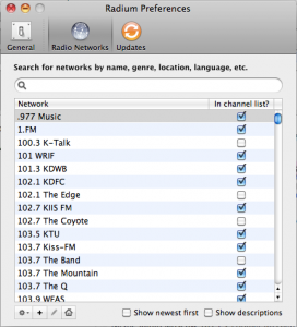 Radium - a great but simple Internet Radio Player for Mac