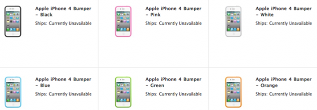 NO MORE BUMPERS at Apple Store