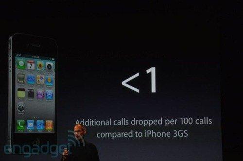 iPhone 4 drop call rate