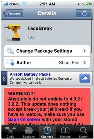 FaceBreak FaceTime over 3G for iPhone 4