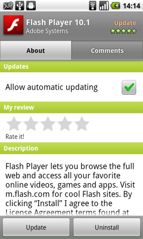 Flash 10.1 Final for Android 2.2 Nexus One