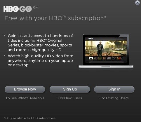 HBO on iPad