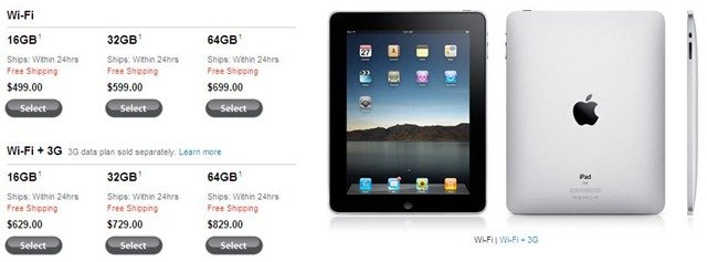 iPad shipping with 24 hours