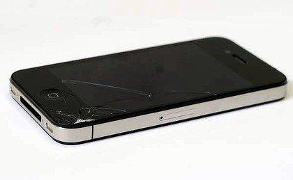iPhone 4 cracked