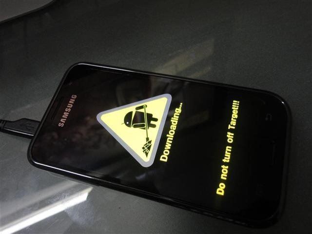 Samsung Galaxy S with Android 2.2 Upgrade Download Mode