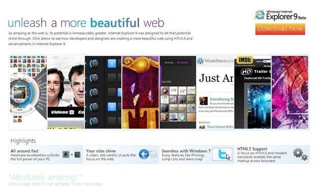 Download Internet Explorer 9 Beta