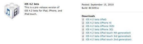 iOS 4.2 Beta